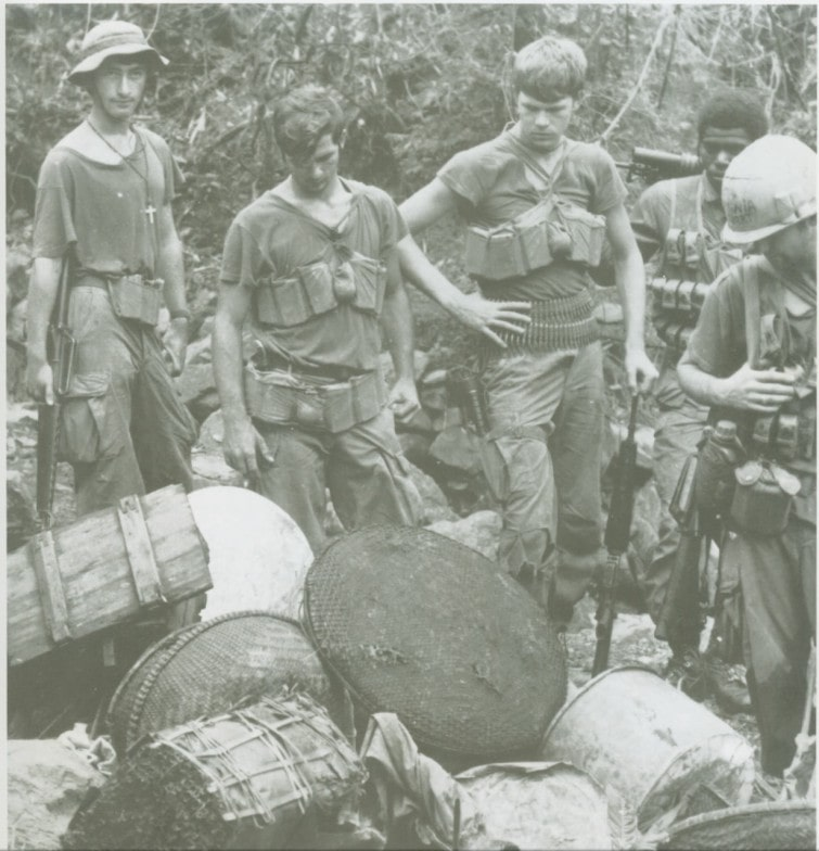 US soldiers with Bandoliers